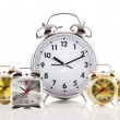 Alarm clock isolated on the white — Stock Photo