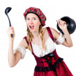 Young woman in traditional german costume — Stock Photo