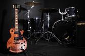 Conjunto de instrumentos musicais durante concerto — Foto Stock