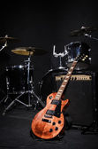 Set of musical instruments during concert — Stockfoto