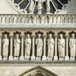 Elements of Notre dame cathedral — Stock Photo