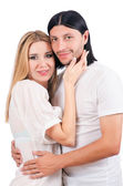Coppia di uomo e donna in amore — Foto Stock