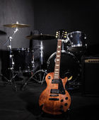 Set of musical instruments during concert — Foto Stock