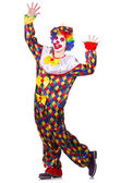 Clown in the costume isolated on white — Stock Photo