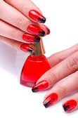 Fashion concept with nail art — Stock Photo