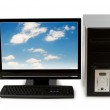 Computer with flat screen isolated — Stock Photo #2525600