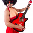 Stock Photo: Min womclothing with guitar