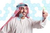 Arabi premendo pulsanti virtuali — Foto Stock