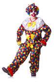 Clown i kostym isolerad på vit — Stockfoto