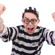 Stock Photo: Funny convict isolated on white