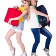 Pair of young students travelling — Stock Photo #26786073