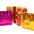 Shopping bags and giftbox isolated — Stock Photo #2683494