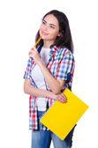 Student preparing for university exams — Stok fotoğraf