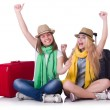 Pair of young students travelling — Stock Photo #27881949