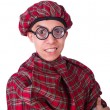 Funny scotsman isolated on the white — Stock Photo