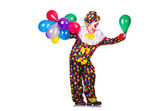 Funny clown isolated on the white — Stock Photo