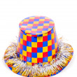 Stock Photo: Party hat isolated on white background