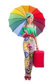 Jonge vrouw vakantie voorbereiden — Stockfoto