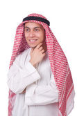 Young arab man isolated on white — Stock Photo