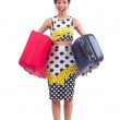 Young woman preparing for vacation — Stock Photo