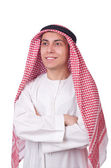 Young arab man isolated on white — Foto de Stock