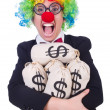 Stock Photo: Businessman clown