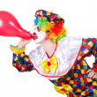 Clown with balloon — Stock Photo
