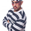 Prisoner with bad bruises  — Stock Photo