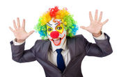 Businessman clown — Stock Photo