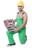 человек с инструментарий — Стоковое фото