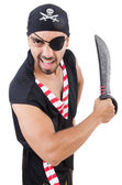 Man in pirate costume in halloween concept — Stock Photo