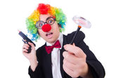 Businesswoman clown — Stock Photo