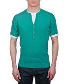 Manliga grön t-shirt — Stockfoto