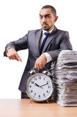 Man not meeting his deadlines — Stockfoto