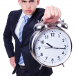 Businessman with clock — Foto Stock
