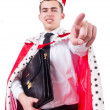 King businessman — Stock Photo