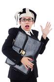 Businesswoman clown — Stock Photo