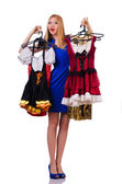 Woman trying new clothing — Stock Photo
