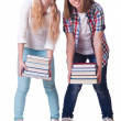 Pair of young students on white — Stock Photo #31432631