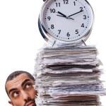 Man not meeting his deadlines — Stock Photo
