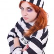 Постер, плакат: Prisoner in striped uniform