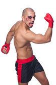 Těžce zbit boxer — Stock fotografie