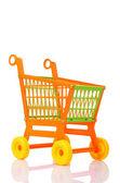 Plastic shopping cart — Stock Photo
