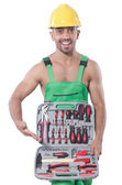 Man with toolkit — Stock Photo