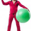 Man with swiss ball — Stock Photo
