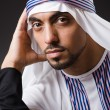 Stock Photo: Arab man in deep thinking mode