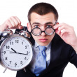 Businessman with clock — Stock Photo #31866481