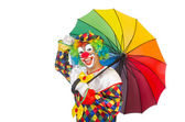 Clown con ombrello — Foto Stock