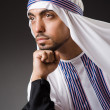 Arab min deep thinking mode — Stock Photo #32098471