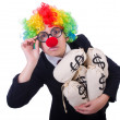 Businessman clown — Foto Stock